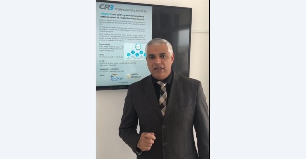 Compliance para empresas é tema de palestra gratuita no Sindloja Caruaru